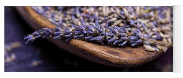 Lavender In A Wooden Scoop Yoga Mat