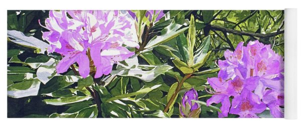 Lavender Rhododendrons Yoga Mat