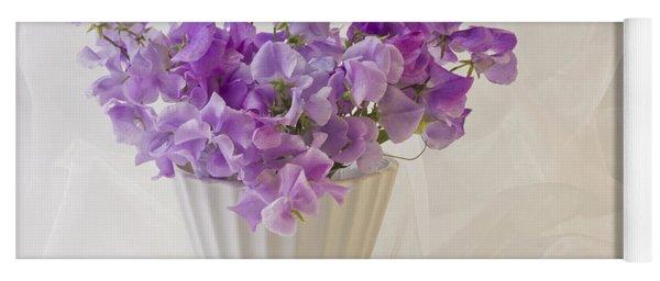 Lavender Sweet Peas And Chiffon Yoga Mat