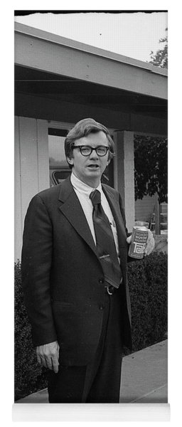 Lawyer With Can Of Tab, 1971 Yoga Mat