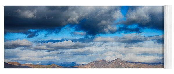 Layers Of Clouds On Mount Evans Yoga Mat