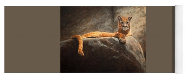 Laying Cougar Yoga Mat