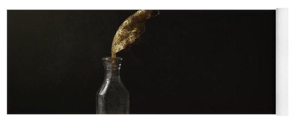 Leaf Bottle Rocks Yoga Mat