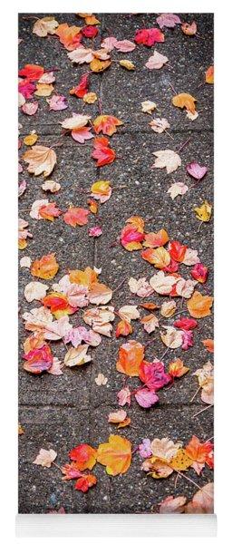 Leafy Autumn Walk Yoga Mat