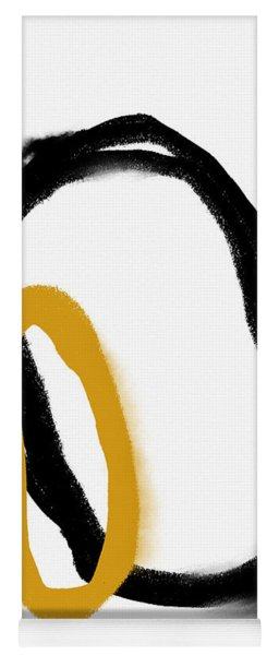 Leaning In- Abstract Art By Linda Woods Yoga Mat