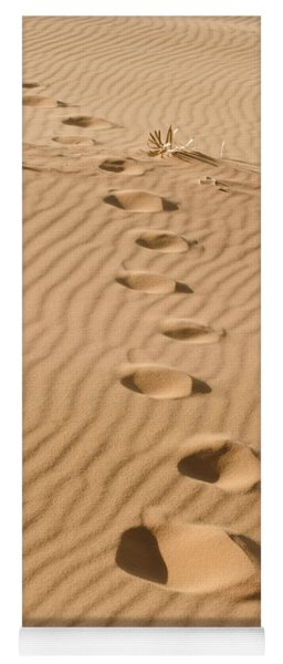 Leave Only Footprints Yoga Mat