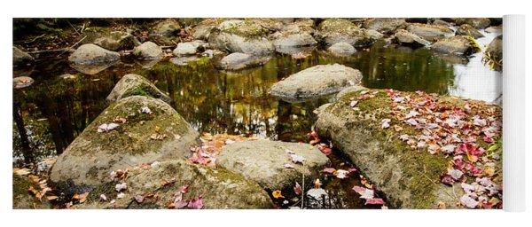Leaves In A Stream Yoga Mat