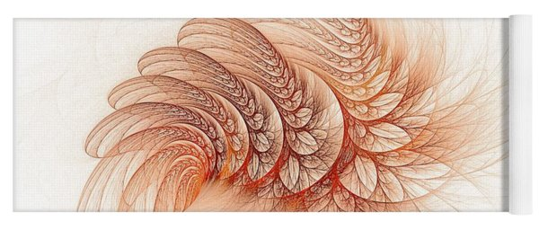 Leaves Of The Fractal Ether-2 Yoga Mat