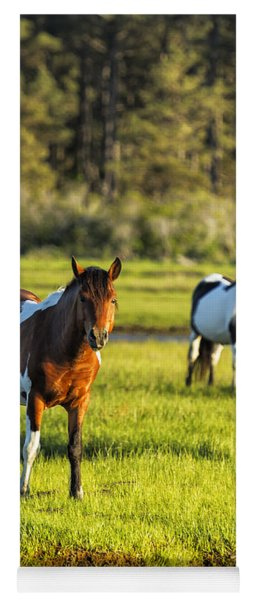 Leaving The Chincoteague Ponies Yoga Mat