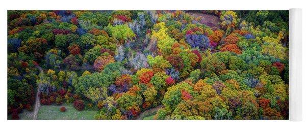 Lebanon Hills Park Eagan Mn Autumn II By Drone Yoga Mat