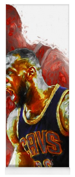 Lebron James 23 1 Cleveland Cavs Digital Painting Yoga Mat