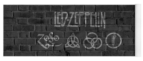 Led Zeppelin Brick Wall Yoga Mat
