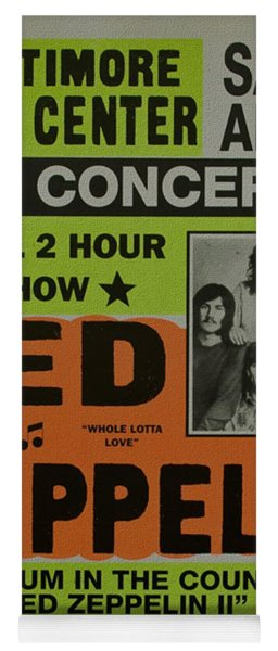 Led Zeppelin Live In Concert At The Baltimore Civic Center Poster Yoga Mat