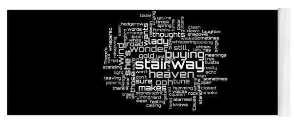 Led Zeppelin - Stairway To Heaven Lyrical Cloud Yoga Mat