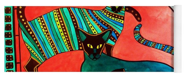Legend Of The Siamese - Cat Art By Dora Hathazi Mendes Yoga Mat
