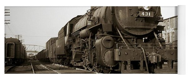 Lehigh Valley Steam Locomotive 431 At Wilkes Barre Pa. 1940s Yoga Mat
