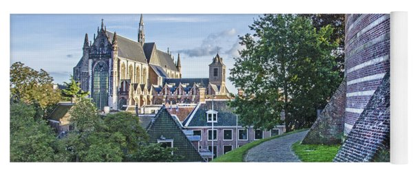 Leiden, The Church And The Castle Yoga Mat