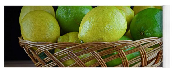Lemon And Lime Basket Yoga Mat