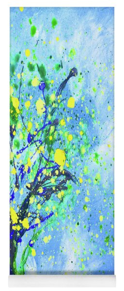 Lemon Tree Vertical Abstract Painting Yoga Mat