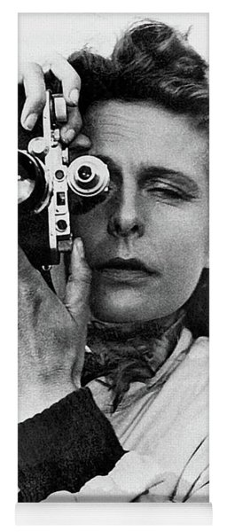 Leni Riefenstahl With A Leica Unknown Photographer Or Date Yoga Mat