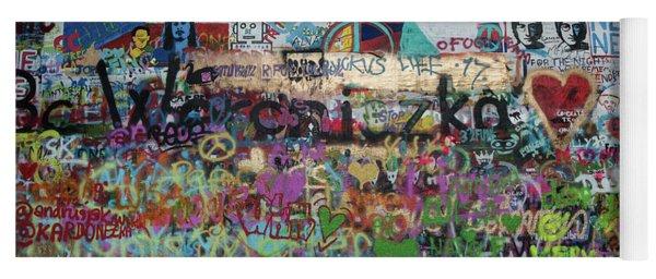 Lennon Wall Prague Czech Republic Yoga Mat