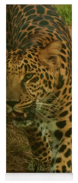 Yoga Mat featuring the photograph Leopard by Chris Flees