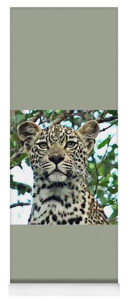 Leopard Face Yoga Mat