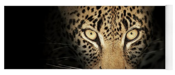Leopard In The Dark Yoga Mat