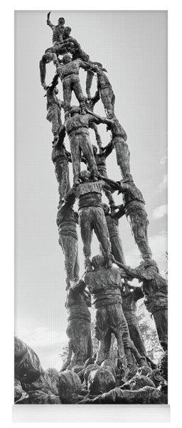 Yoga Mat featuring the photograph Les Castellers Monument In Tarragona by Eduardo Jose Accorinti