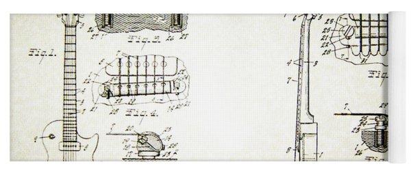 Les Paul Guitar Patent 1955 Yoga Mat