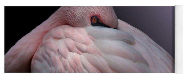 Lesser Flamingo Resting Yoga Mat
