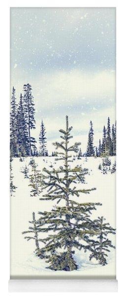 Let It Snow Yoga Mat