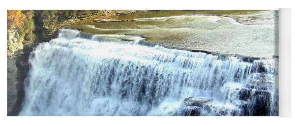 Letchworth State Park Middle Falls Autumn Yoga Mat