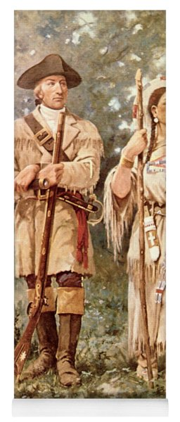 Lewis And Clark With Sacagawea Yoga Mat