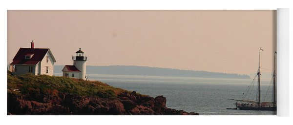 Lewis R French At The Curtis Island Lighthouse Yoga Mat