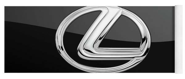 Lexus - 3d Badge On Black Yoga Mat