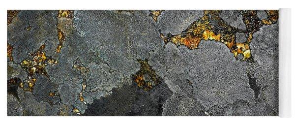 Lichen On Granite Rock Abstract Yoga Mat