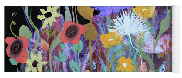 Yoga Mat featuring the painting Life On A Summer's Day by Robin Maria Pedrero