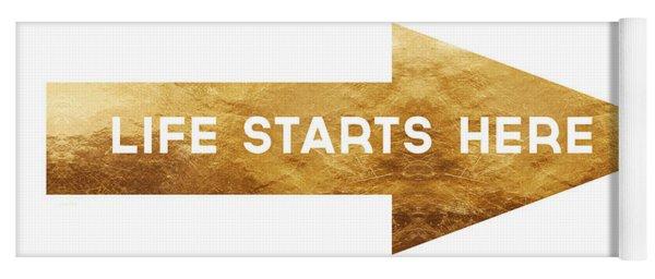 Life Starts Here-art By Linda Woods Yoga Mat