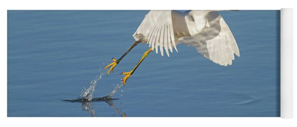 Lift Off- Snowy Egret Yoga Mat