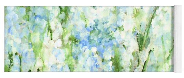 Light Blue Grape Hyacinth. Yoga Mat