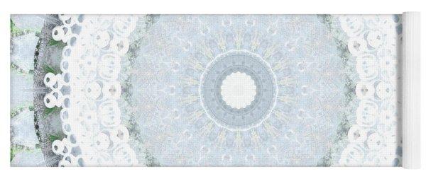 Light Blue Mandala- Art By Linda Woods Yoga Mat