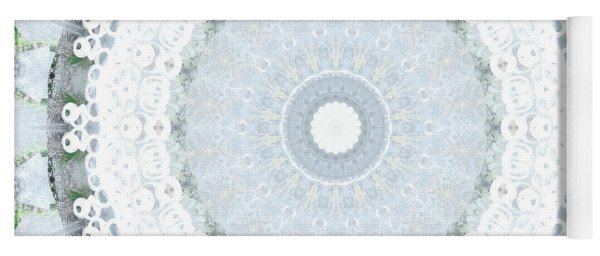 Light Blue Mandala- Art By Linda Woods Yoga Mat