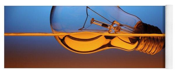 Light Bulb In Water Yoga Mat