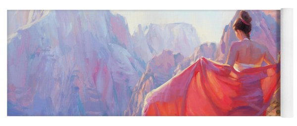 Yoga Mat featuring the painting Light Of Zion by Steve Henderson