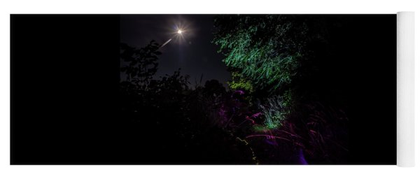 Light Painted Scene In The Moonlight Yoga Mat