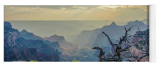 Light Seeks The Depths Of Grand Canyon Yoga Mat