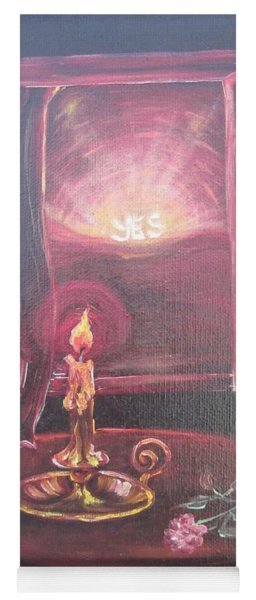 Flying Lamb Productions      Light The Yes Candle Yoga Mat