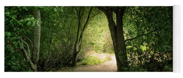 Yoga Mat featuring the photograph Light Through The Tree Tunnel by Alison Frank