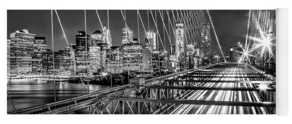 Light Trails Of Manhattan Yoga Mat